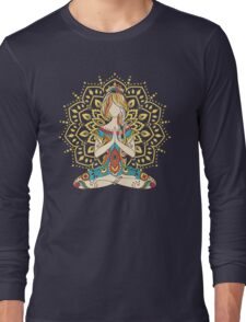 Yoga Om Chakras Mindfulness Meditation Zen 4 Long Sleeve T-Shirt