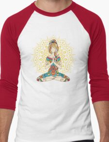 Yoga Om Chakras Mindfulness Meditation Zen 4 Men's Baseball ¾ T-Shirt