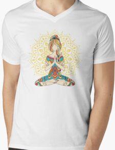 Yoga Om Chakras Mindfulness Meditation Zen 4 Mens V-Neck T-Shirt