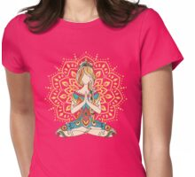 Yoga Om Chakras Mindfulness Meditation Zen 4 Womens Fitted T-Shirt