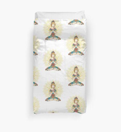 Yoga Om Chakras Mindfulness Meditation Zen 4 Duvet Cover