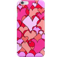 Pink collage hearts iPhone Case/Skin