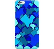 Blue collage hearts iPhone Case/Skin