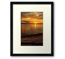 Superior Sunset Framed Print
