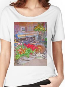 Floral tribute to Tractor Women's Relaxed Fit T-Shirt