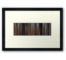 Moviebarcode: Bonnie and Clyde (1967) Framed Print