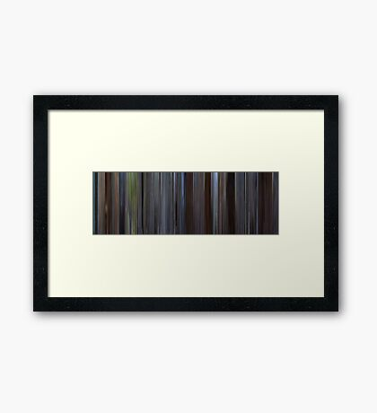 Moviebarcode: About a Boy (2002) Framed Print