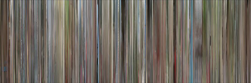 Moviebarcode: Ferris Bueller's Day Off (1986) by moviebarcode