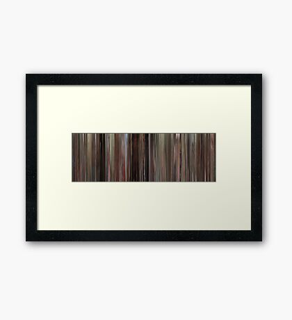 Moviebarcode: Fast Times at Ridgemont High (1982) Framed Print
