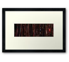 Moviebarcode: Sequence from Dusk Till Dawn (1996) Table dance Framed Print
