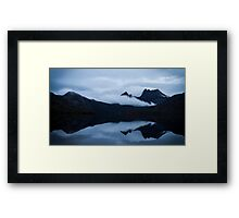 Moody Mountain Framed Print
