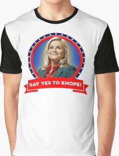 'Say Yes To Knope!', Leslie Knope - Parks & Recreation Graphic T-Shirt