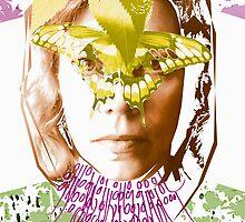 masquerade binary code digital art by Veera Pfaffli