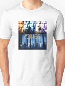 Once Upon a Time, OUAT, season 1, rumplestilskin, emma swan, prince charming, snow white, regina, evil queen, blue woods T-Shirt