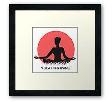 Yoga Emblem  Framed Print