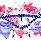 kissing game binary code love digital fine art by Veera Pfaffli