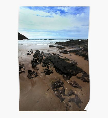 Rocks In Mewslade Bay - Wales Poster