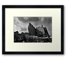 Weobley Castle Ruins - Gower - Wales Framed Print