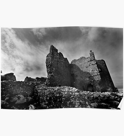 Weobley Castle Ruins - Gower - Wales Poster