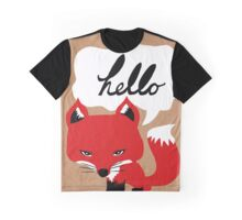 The Fox Says Hello Graphic T-Shirt