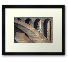 Daring Grafitti Framed Print