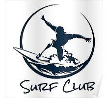 Surfer Club Print DesignTemplate Poster