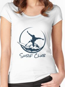 Surfer Club Print DesignTemplate Women's Fitted Scoop T-Shirt