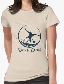 Surfer Club Print DesignTemplate Womens Fitted T-Shirt