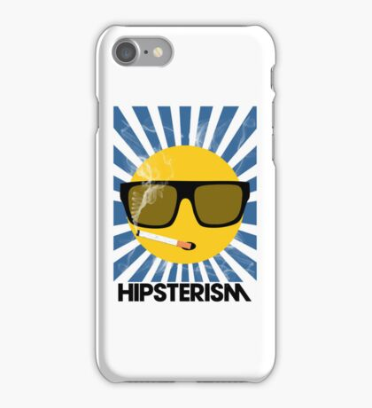 HIPSTERISM (SERIES) [blue/black] iPhone Case/Skin