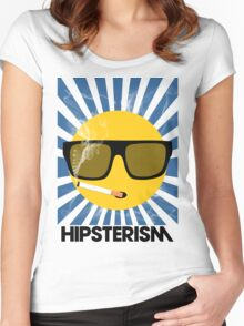 HIPSTERISM (SERIES) [blue/black] Women's Fitted Scoop T-Shirt