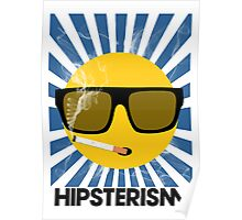 HIPSTERISM (SERIES) [blue/black] Poster