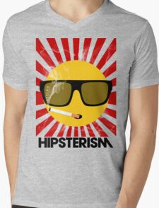 HIPSTERISM (SERIES) [red/black] Mens V-Neck T-Shirt