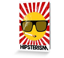 HIPSTERISM (SERIES) [red/black] Greeting Card