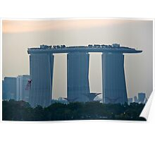 Marina Bay Sands as seen from the harbor cruise Poster