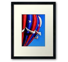 Red White Blue Sky Framed Print