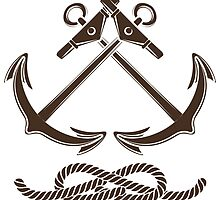 Nautical or Seafarer Club Emblem by devaleta