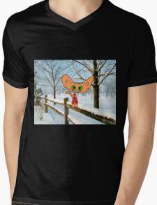 Cat Enjoying The Snow Mens V-Neck T-Shirt