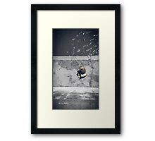 Loneliness of a fisherman Framed Print