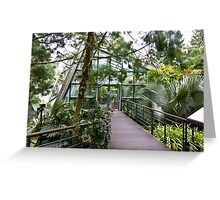 Cool house inside the National Orchid Garden in Singapore Greeting Card
