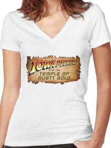 Iowa Pickers Women's Fitted V-Neck T-Shirt