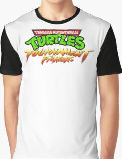 TMNT Tournament Fighters (SNES) Title Screen Graphic T-Shirt