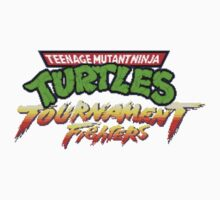 TMNT Tournament Fighters (SNES) Title Screen One Piece - Short Sleeve