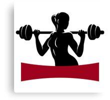Fitness Center or Gym Emblem Canvas Print