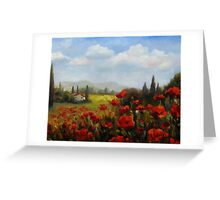 Beyond the Poppies by Chris Brandley Greeting Card