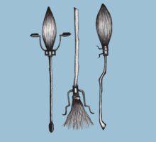 Three Broomsticks - Harry Potter Inspired Illustration Kids Tee