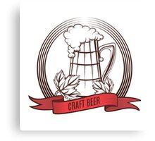 Craft Beer Print Design Template Canvas Print
