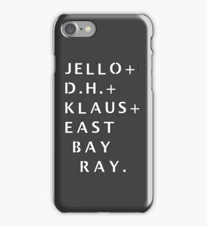 Dead Kennedys Stencil [Case and Sticker] iPhone Case/Skin