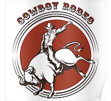Cowboy Rodeo Emblem Poster
