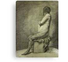 Seated Figure Canvas Print