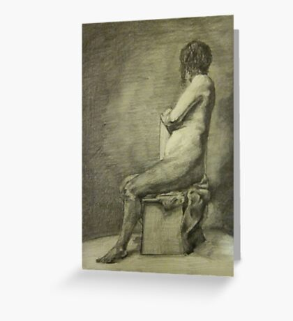Seated Figure Greeting Card